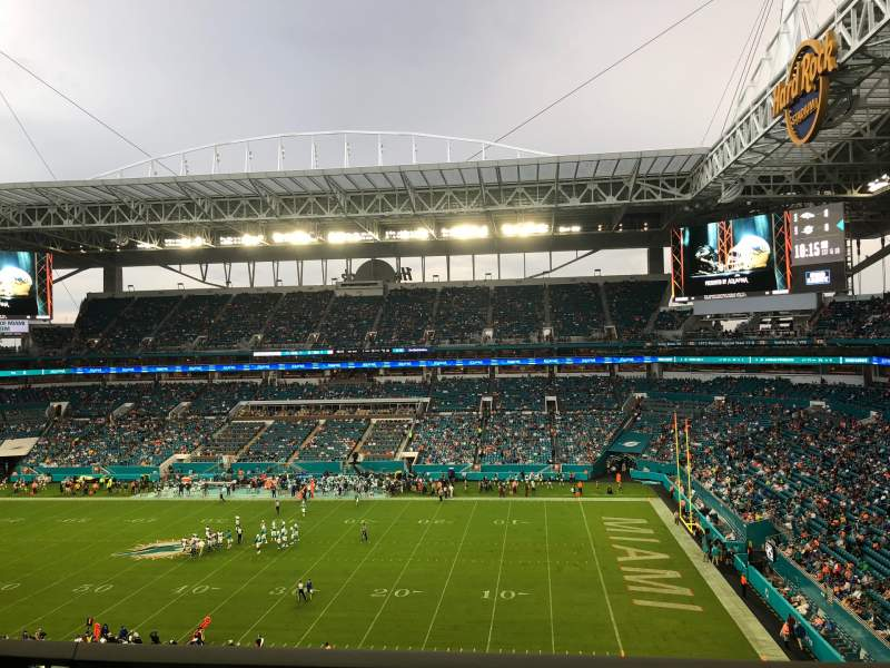 Seating view for Hard Rock Stadium Section 315 Row 1 Seat 11
