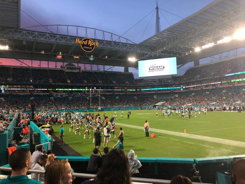 Seating view for Hard Rock Stadium Section 138 Row 3 Seat 17