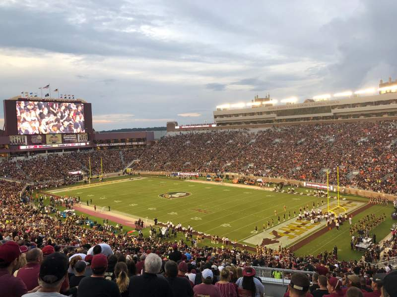 Seating view for Bobby Bowden Field at Doak Campbell Stadium Section 27 Row 64 Seat 16