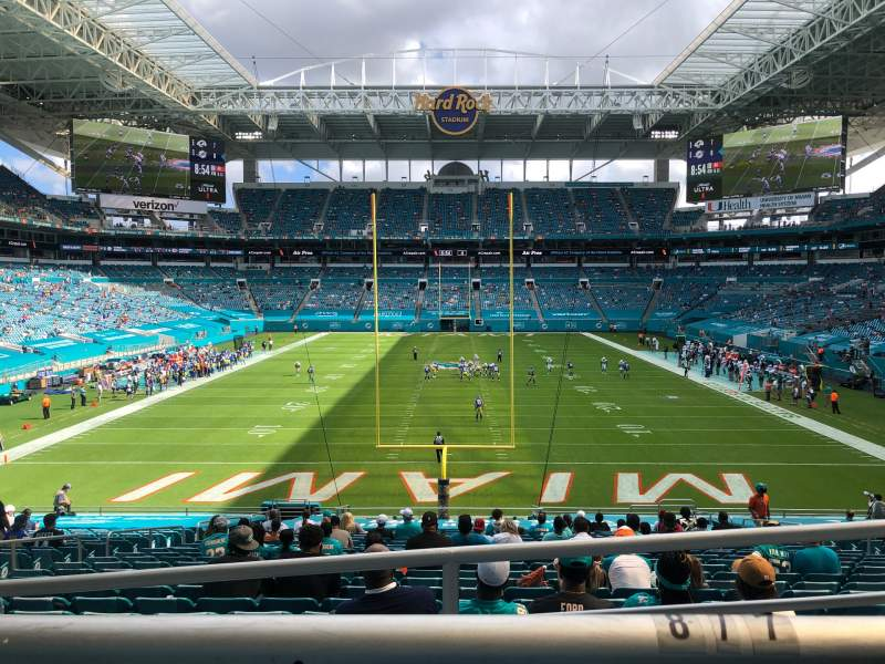 Seating view for Hard Rock Stadium Section 104 Row 28W Seat 8