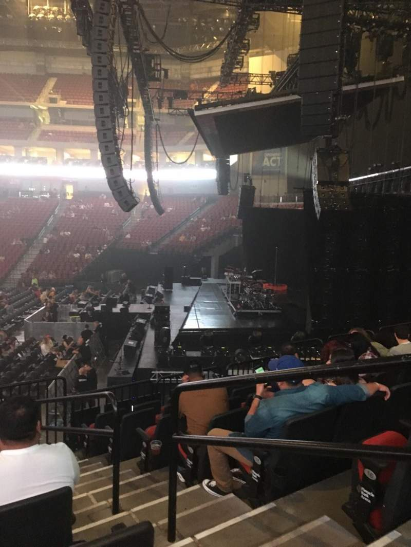 Seating view for Pinnacle Bank Arena Section 104 Row 18 Seat 1