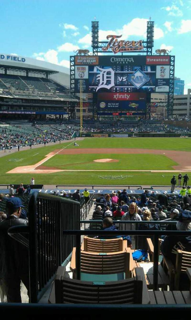 Seating view for Comerica Park Section 122B Row E Seat 3-4