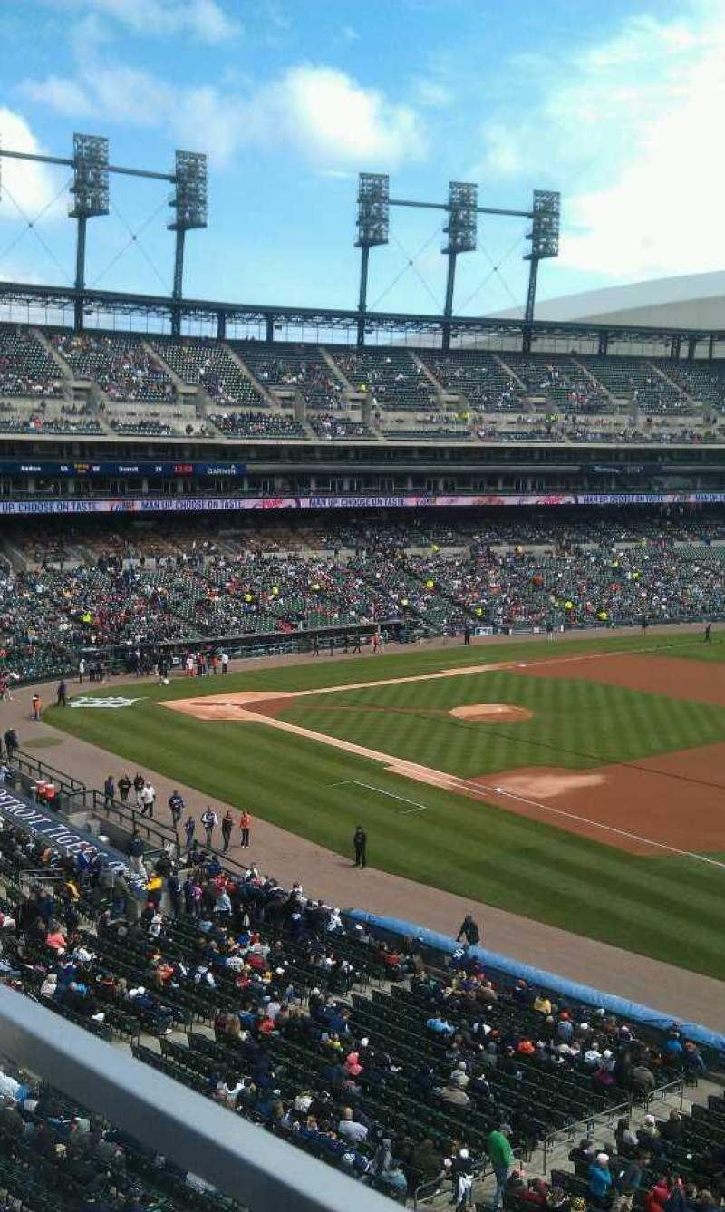Comerica Park Section 216 Row A Seat 22 Detroit Tigers Vs Texas