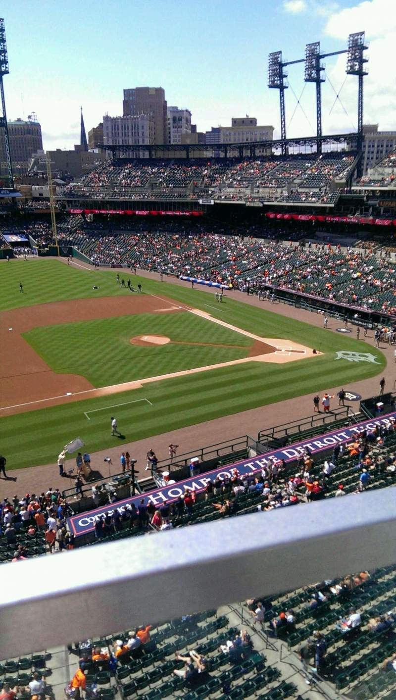 Seating view for Comerica Park Section 336 Row A Seat 1