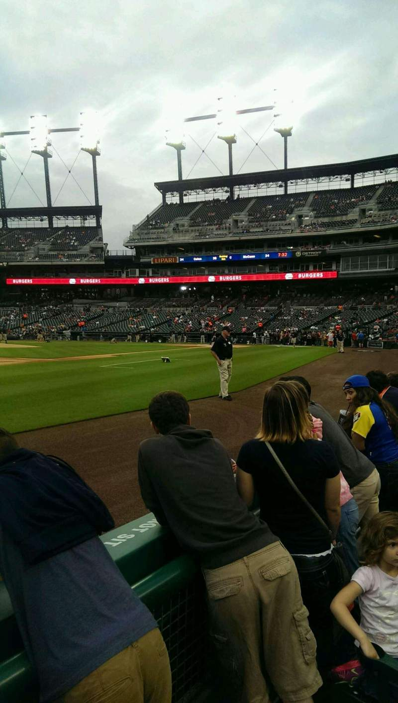 Seating view for Comerica Park Section 137 Row 2 Seat 11