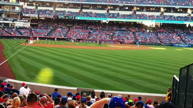 Seating view for Angel Stadium Section F135 Row u Seat 15