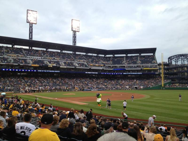Seating view for PNC Park Section 103 Row J Seat 12