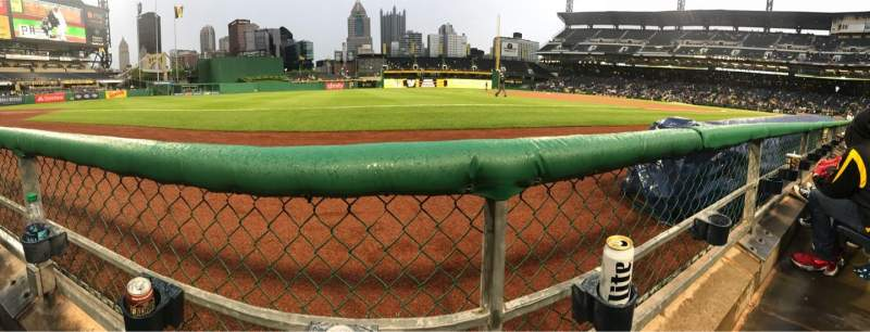 Seating view for PNC Park Section 27 Row A Seat 10