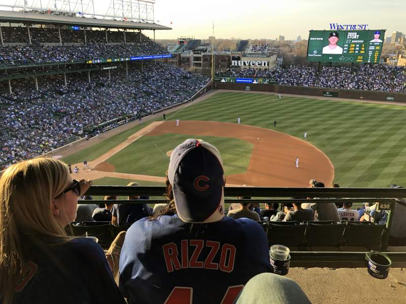 Seating view for Wrigley Field Section 425R Row 2 Seat 7