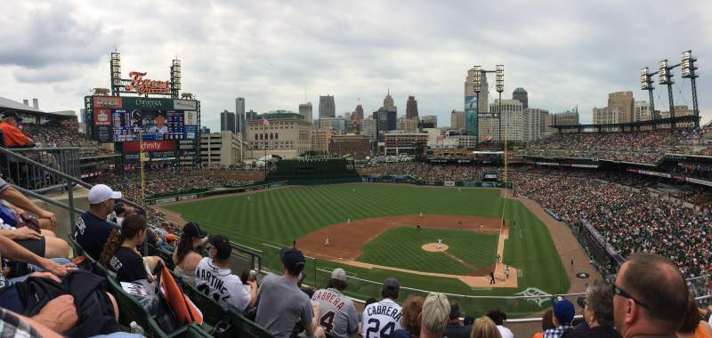 Seating view for Comerica Park Section 331 Row E Seat 14