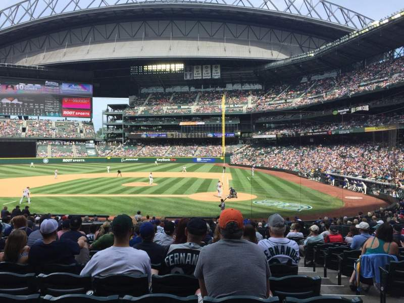 Seating view for T-Mobile Park Section 135 Row 26 Seat 2