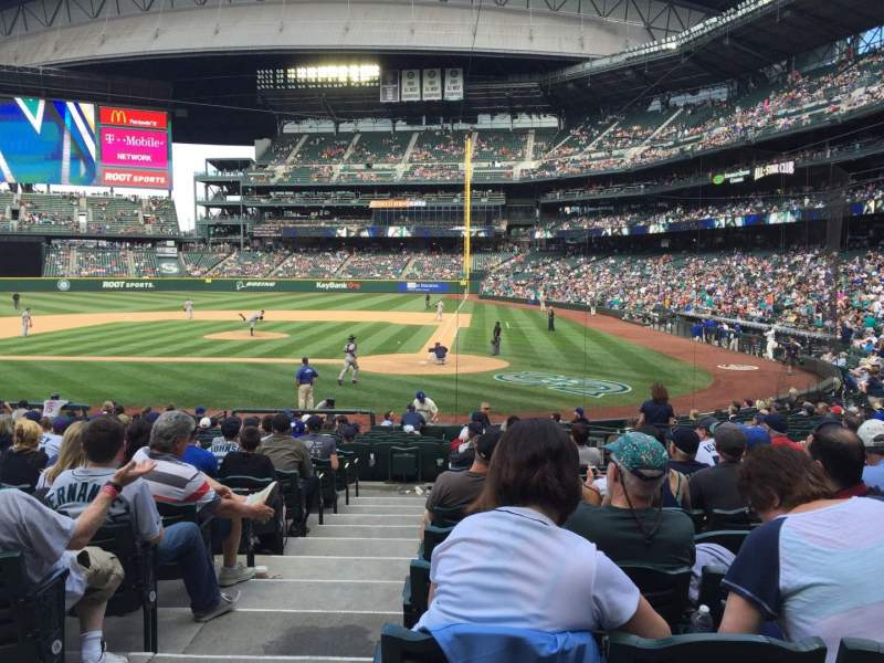 Seating view for Safeco Field Section 134 Row 22 Seat 13