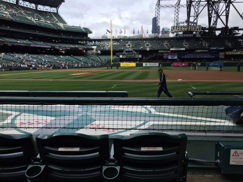 Seating view for Safeco Field Section 122 Row 7 Seat 1