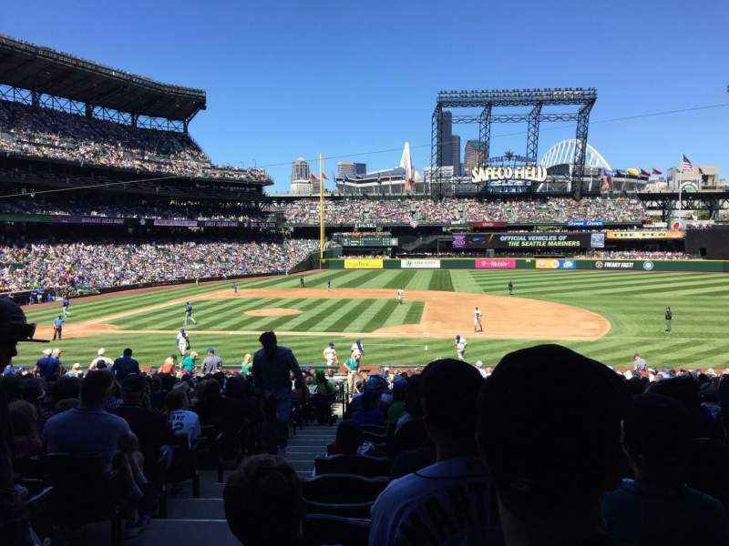 Seating view for T-Mobile Park Section 121 Row 33 Seat 12