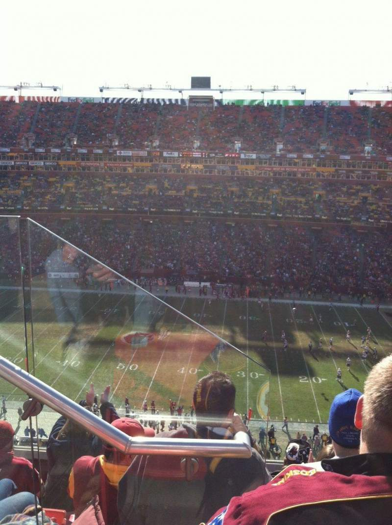 Seating view for Fedex Field Section 426 Row 5 Seat 19
