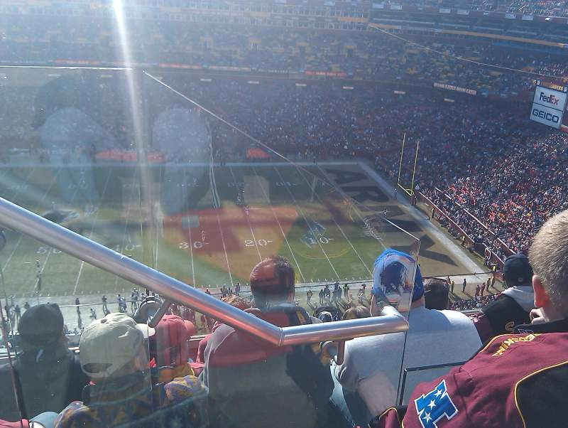 Seating view for Fedex Field Section 426 Row 5 Seat 20