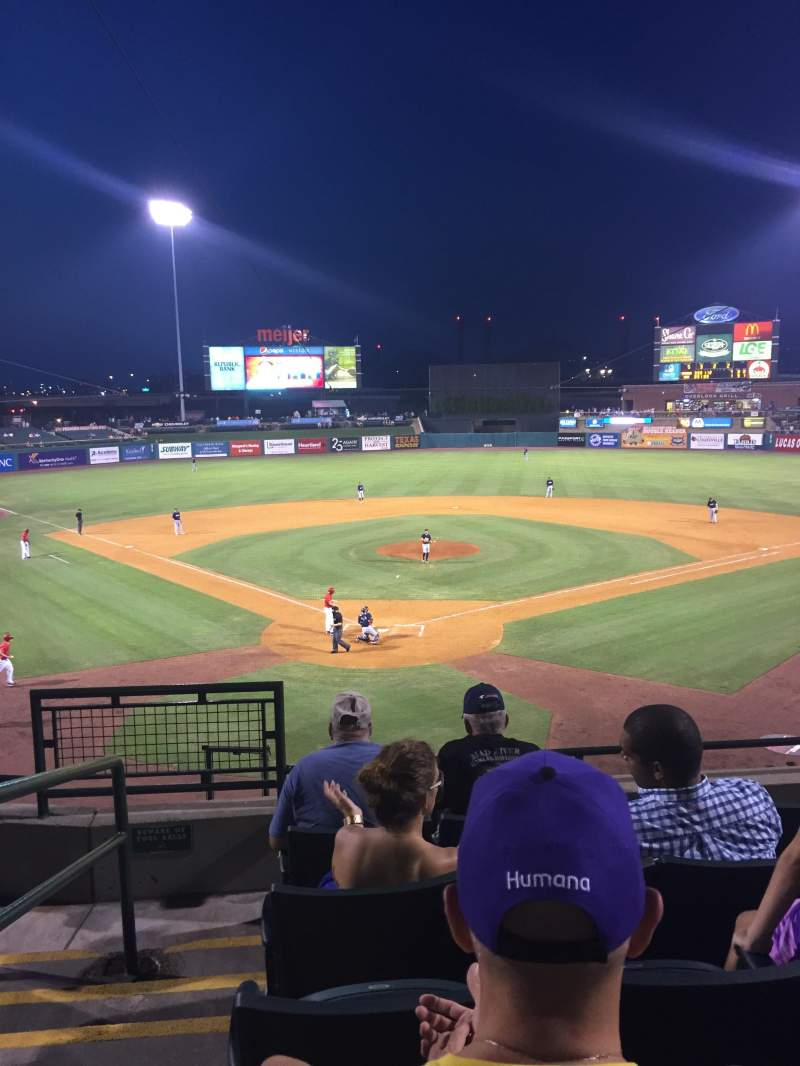 Seating view for Louisville Slugger Field Section 214 Row E Seat 16