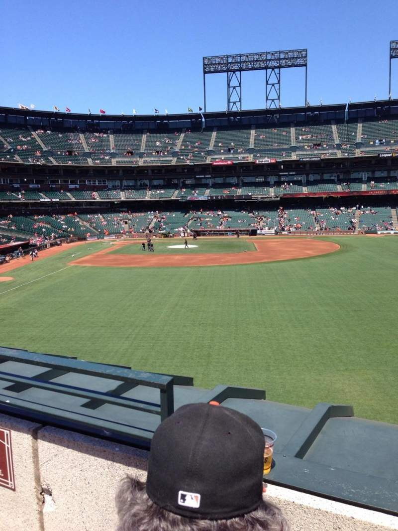 Seating view for AT&T Park Section 148 Row 2 Seat 11