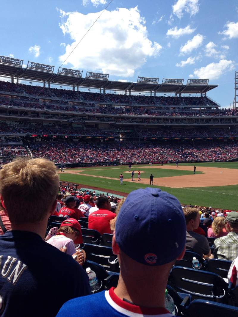 Seating view for Nationals Park Section 133 Row GG Seat 1