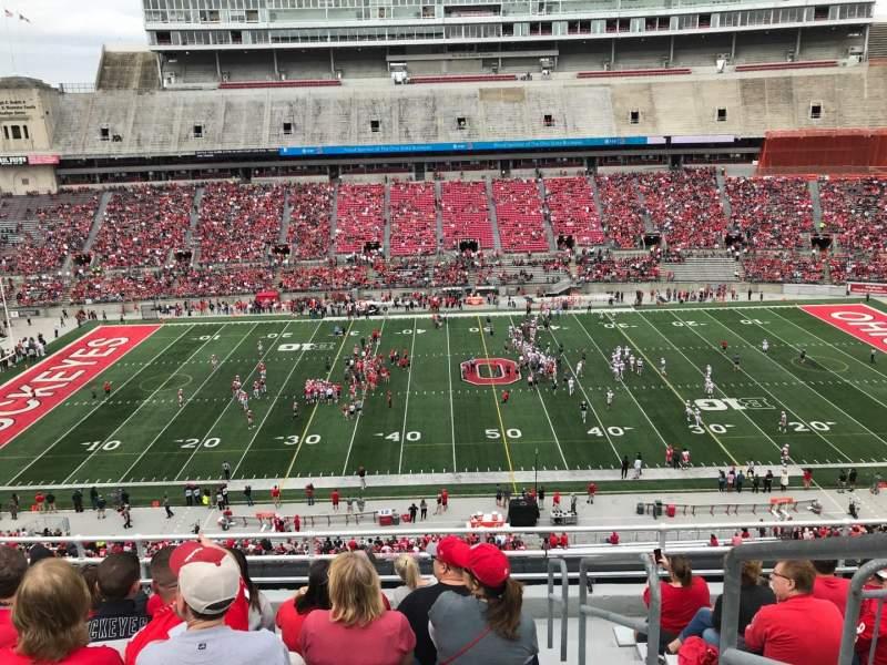 Ohio Stadium, section: 22c, row: 9, seat: 17