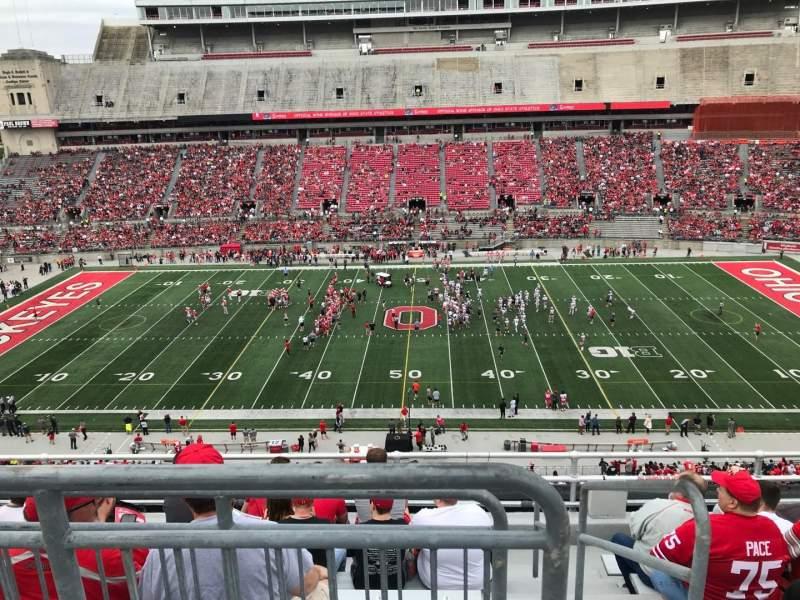 Ohio Stadium, section: 22c, row: 8, seat: 1