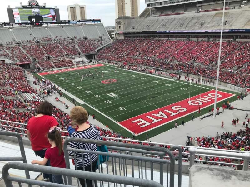 Ohio Stadium, section: 10c, row: 9, seat: 11
