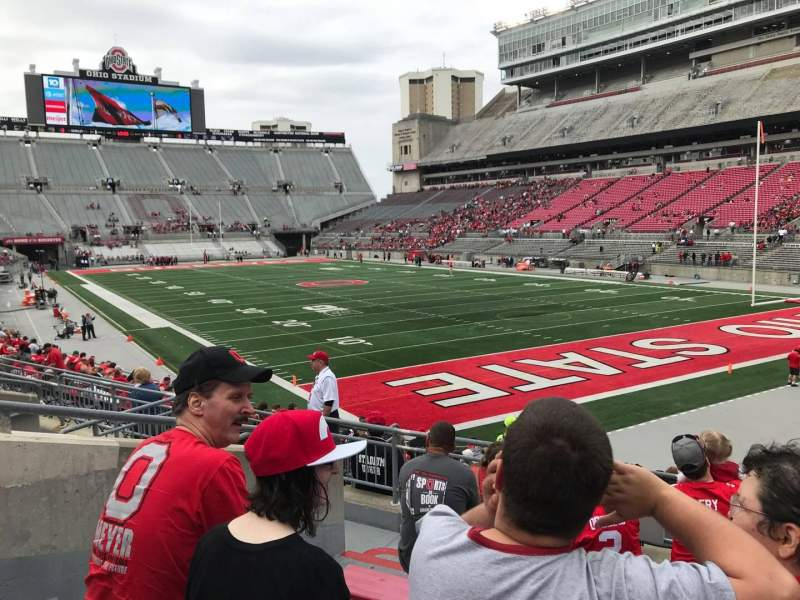 Seating view for Ohio Stadium Section 10a Row 7 Seat 6