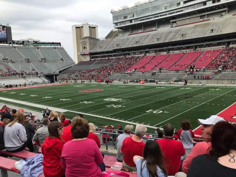 Ohio Stadium, section: 14a, row: 7, seat: 3