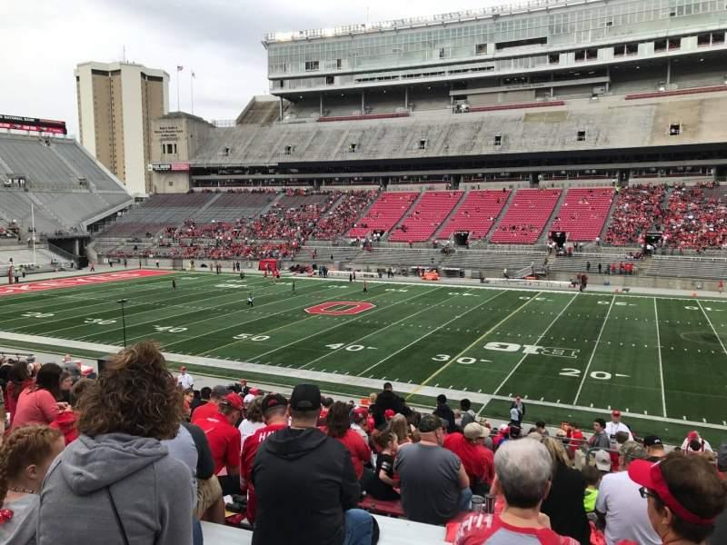 Ohio Stadium, section: 18a, row: 19, seat: 3