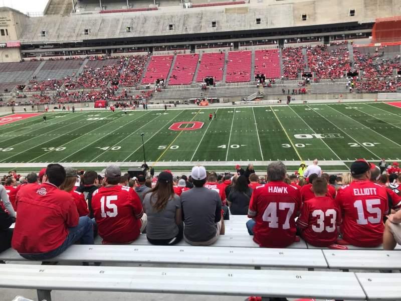 Ohio Stadium, section: 20a, row: 24, seat: 11