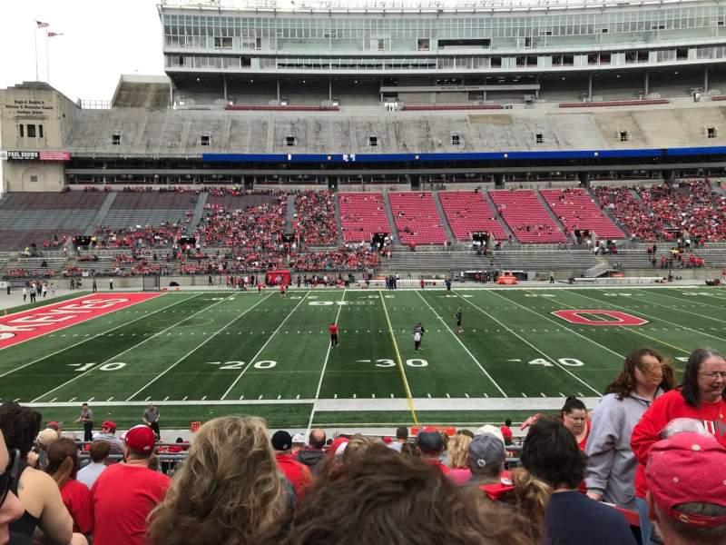 Ohio Stadium, section: 24a, row: 9, seat: 7