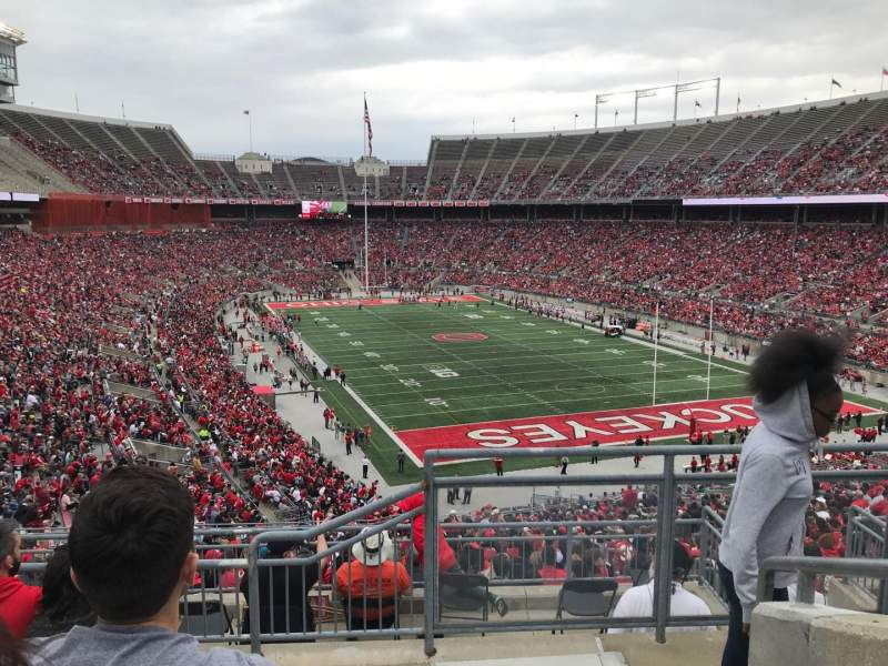 Seating view for Ohio Stadium Section 33b Row 6 Seat 1