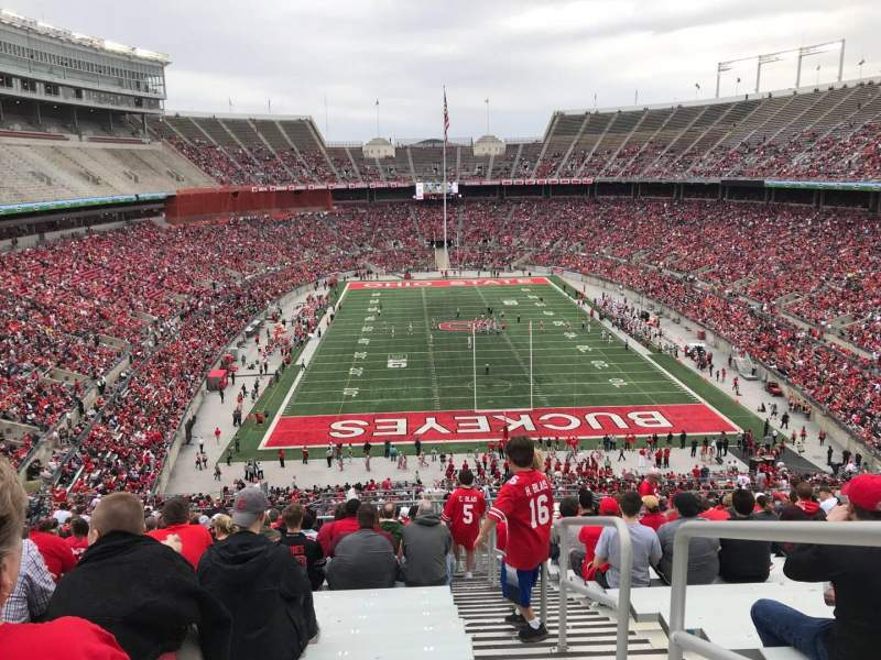 Ohio Stadium, section: 37B, row: 30, seat: 1