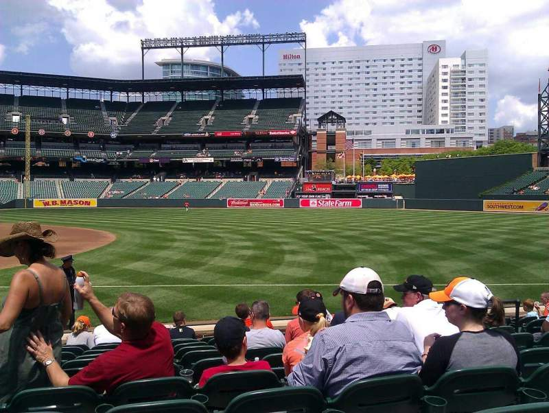 Oriole Park at Camden Yards, section 14, row 11, seat 8 ...