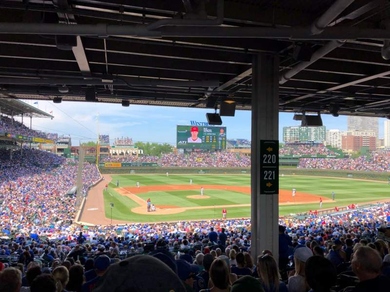 Seating view for Wrigley Field Section 220 Row 15 Seat 18