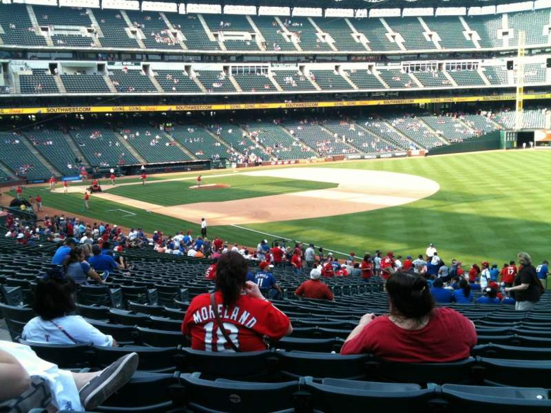 Seating view for Globe Life Park in Arlington Section 39 Row 34 Seat 6