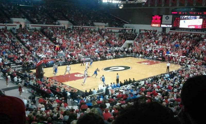 Seating view for Stegeman Coliseum Section II Row 3 Seat 26