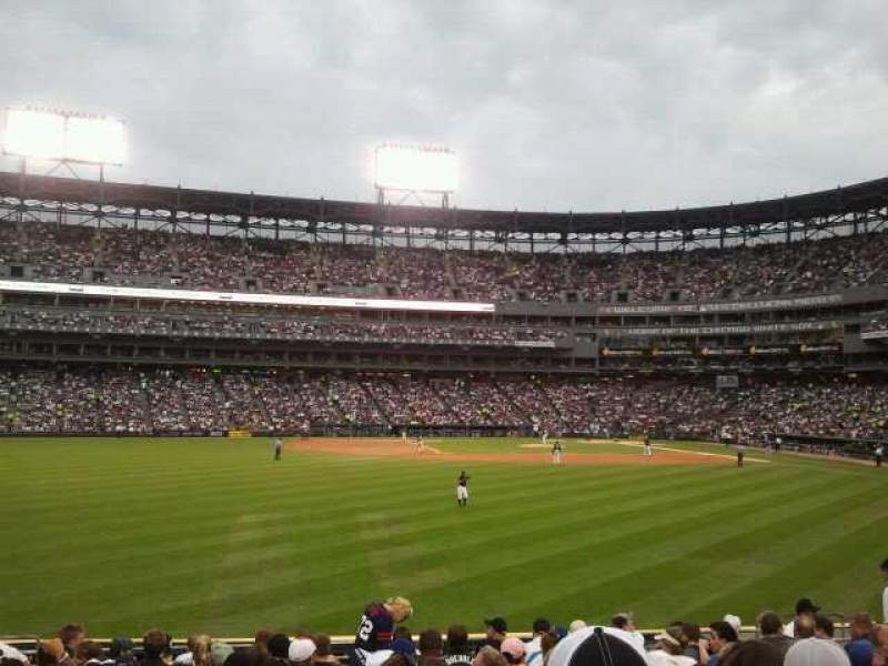Seating view for Guaranteed Rate Field Section 160 Row 16 Seat 13