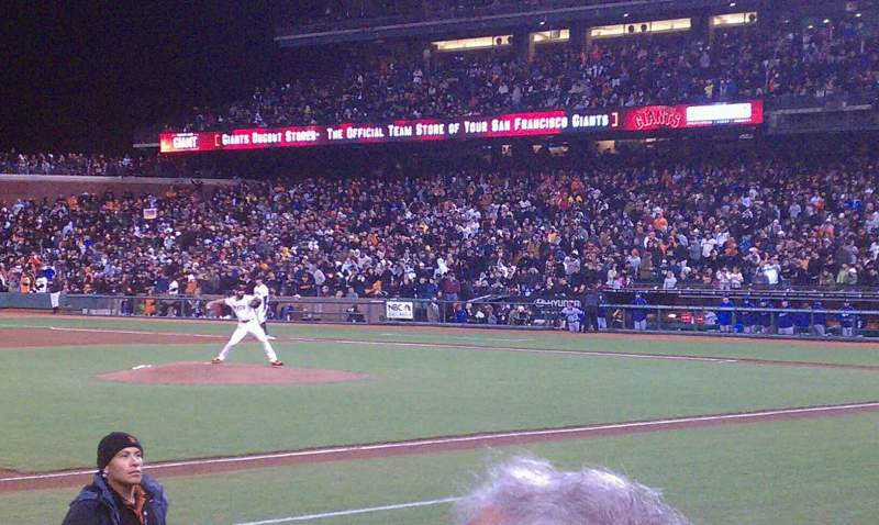 Seating view for AT&T Park Section 125 Row 5 Seat 3