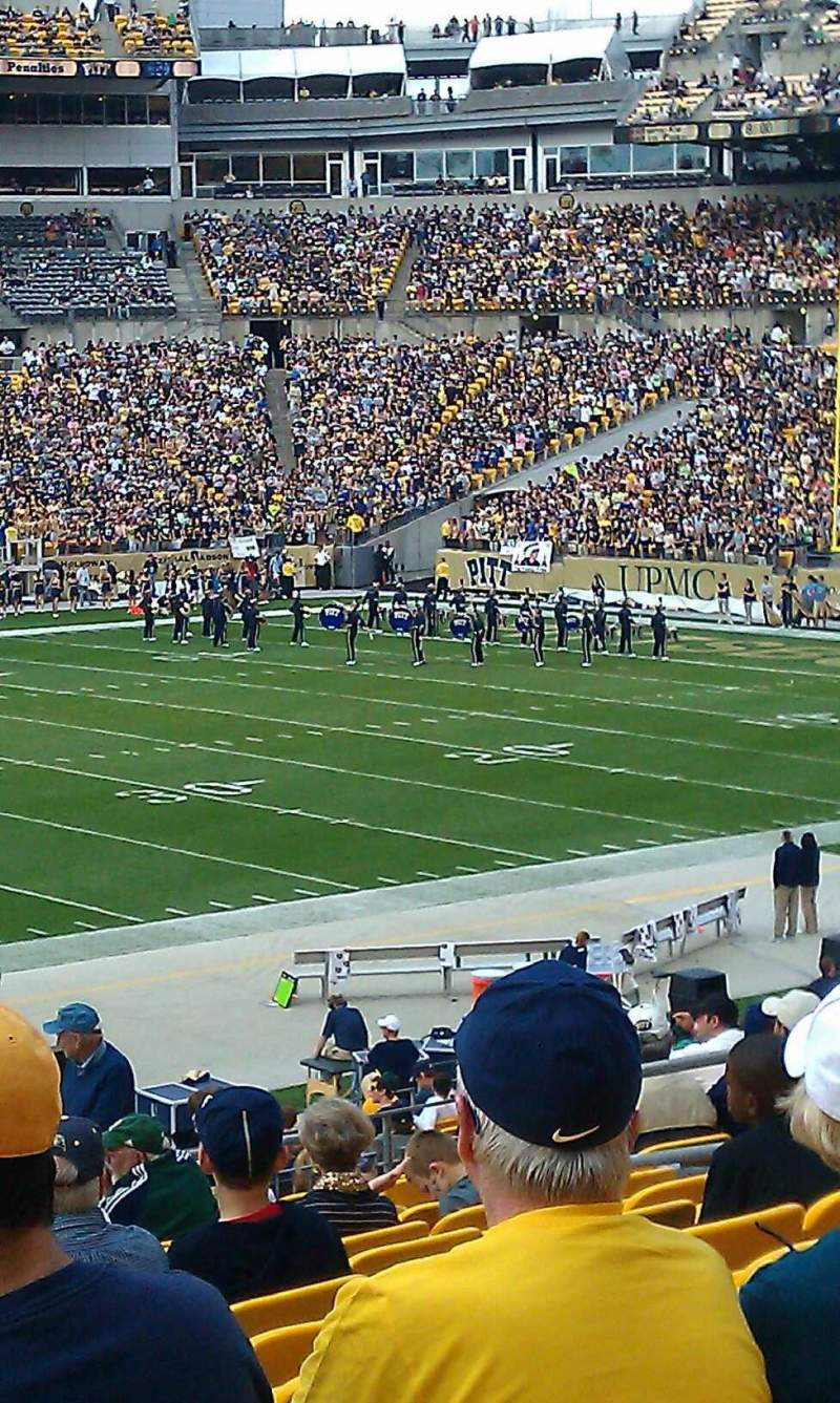 Seating view for Heinz Field Section 109 Row aa Seat 13