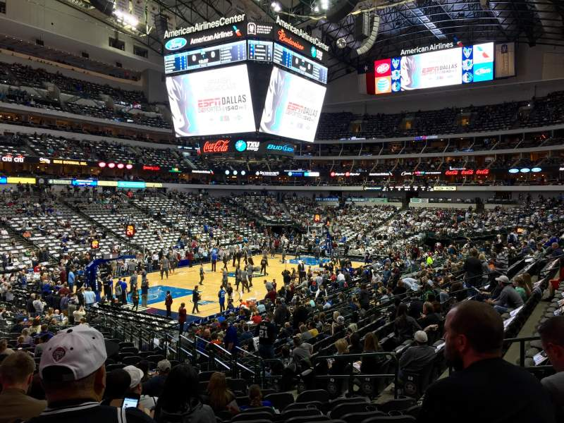 American Airlines Center Section 122 Home Of Dallas