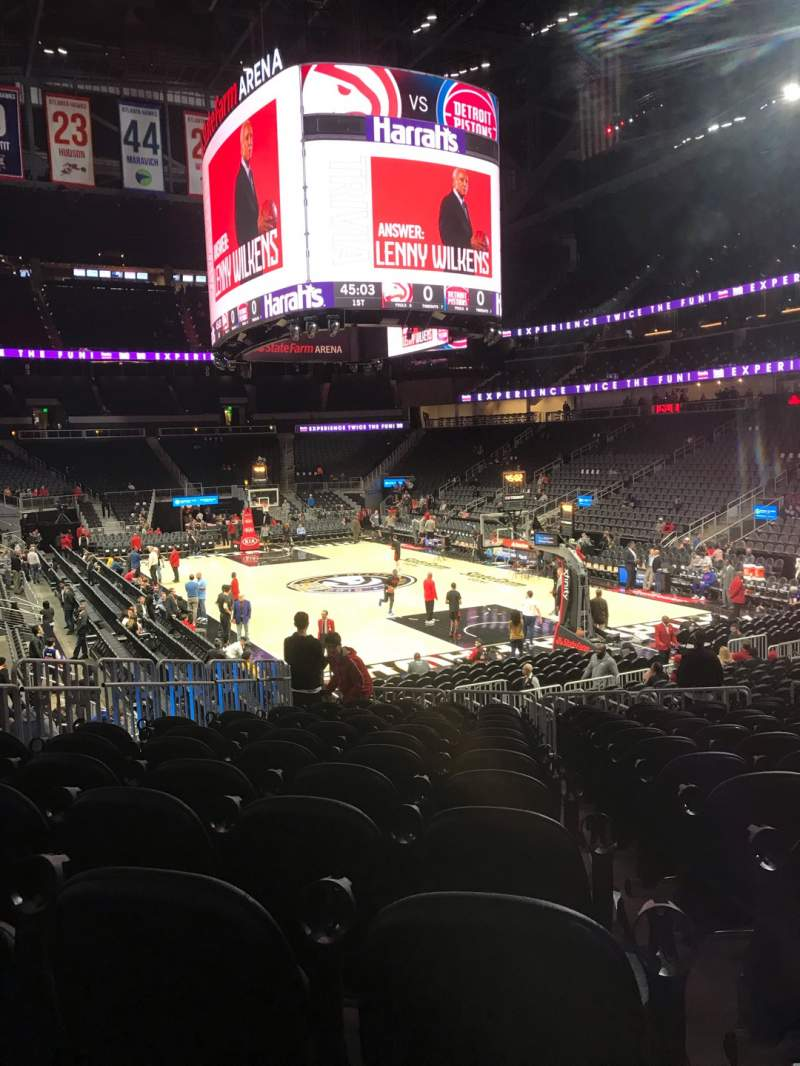 Seating view for State Farm Arena Section 104 Row M Seat 12