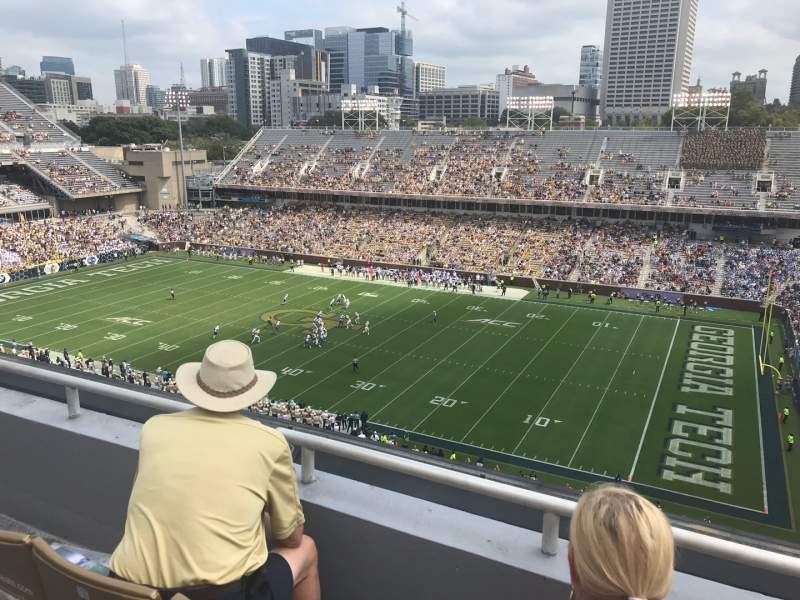 Seating view for Bobby Dodd Stadium Section 202 Row 3 Seat 15