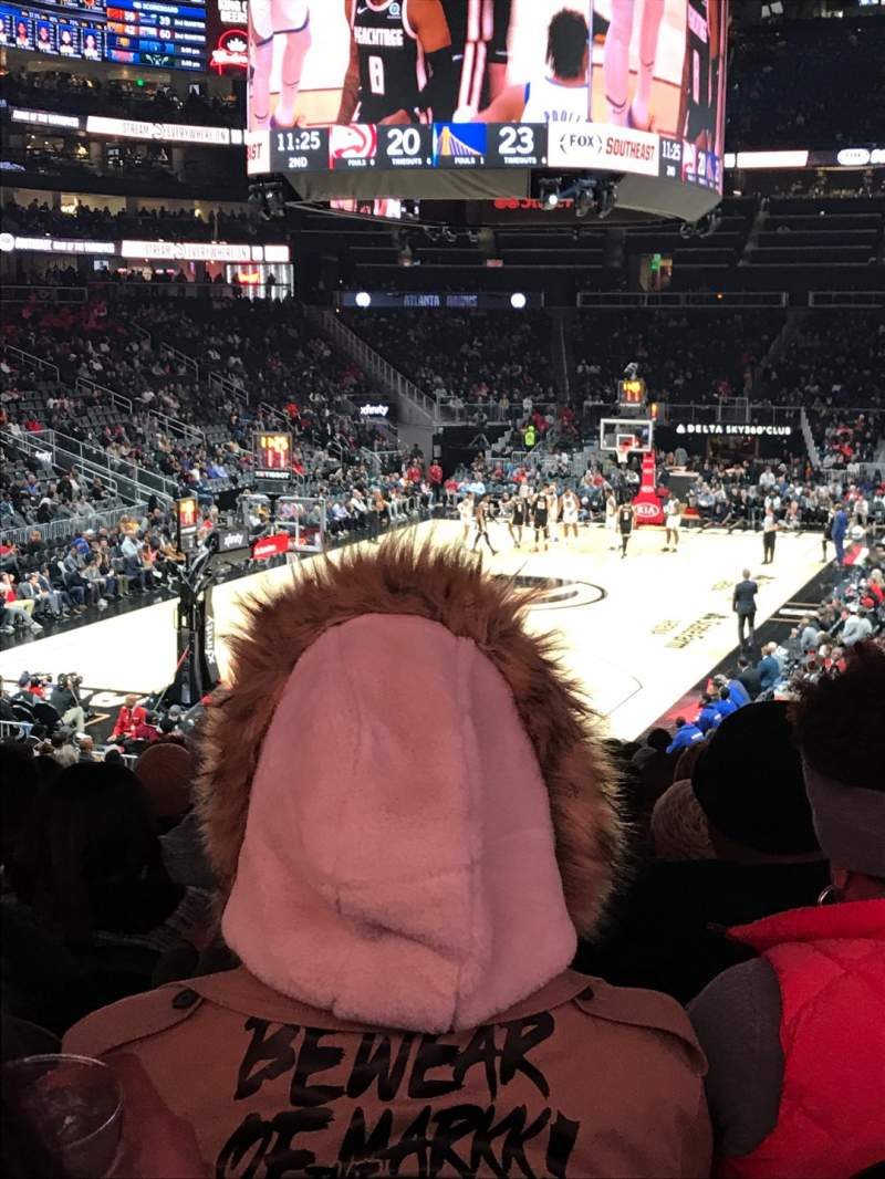 Seating view for State Farm Arena Section 101 Row T Seat 18
