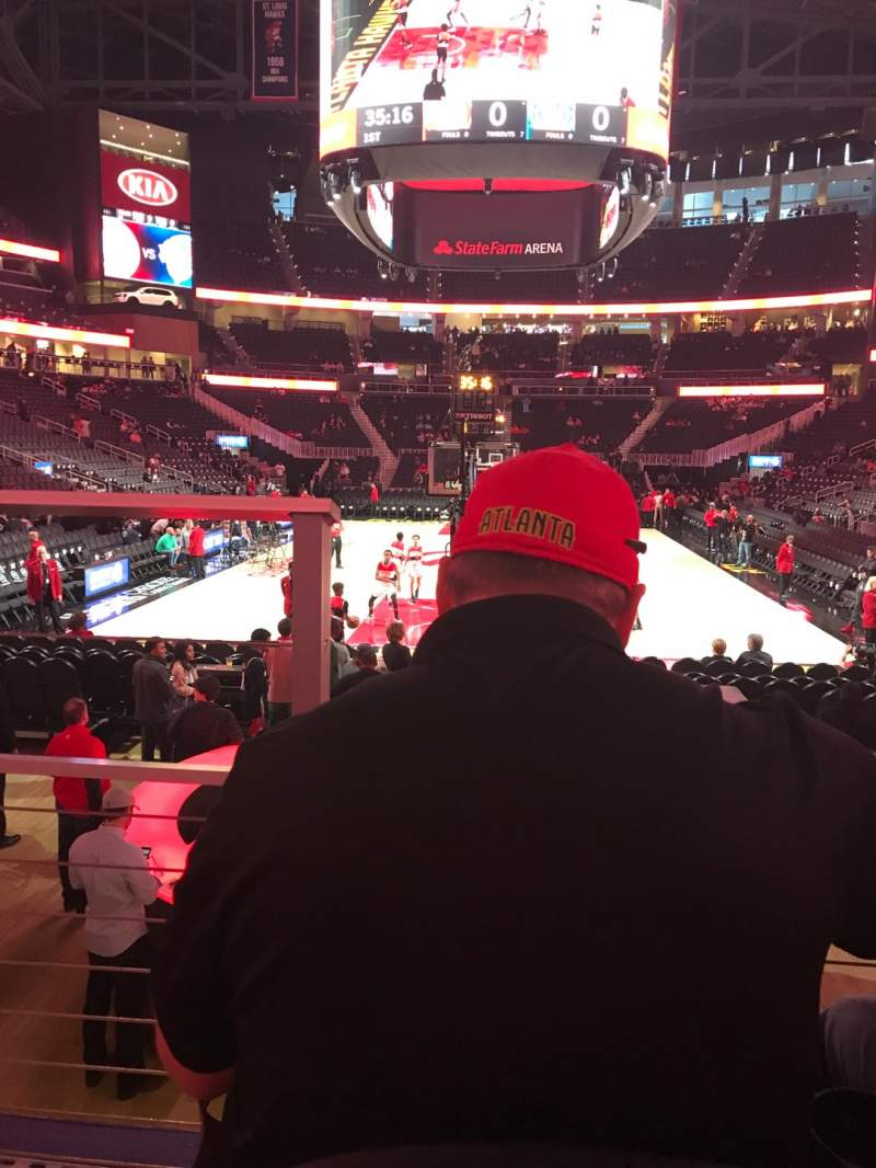 Seating view for State Farm Arena Section 113 Row B Seat 13