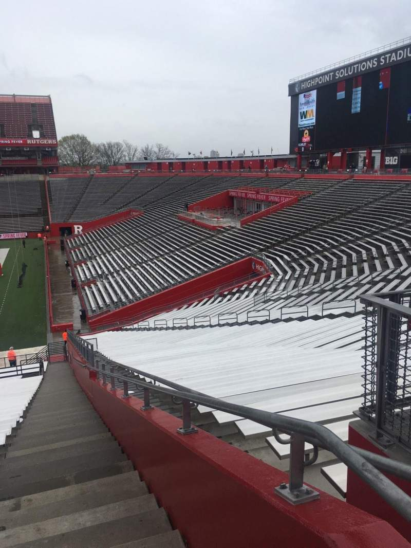 SHI Stadium, section 101, row 30 - Rutgers Scarlet Knights ...