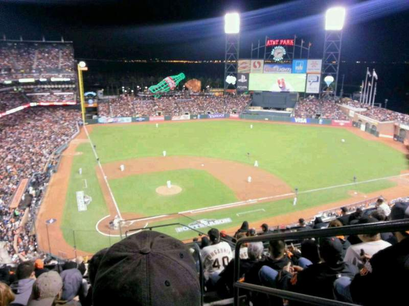 Seating view for AT&T Park Section 312 Row 7 Seat 1