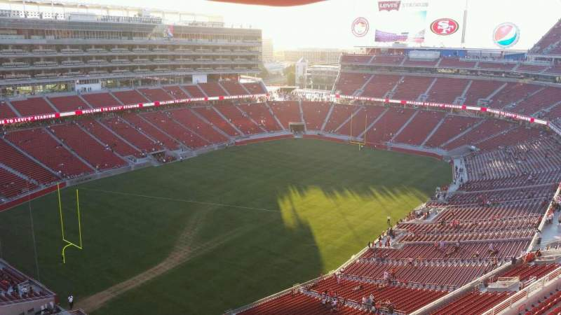 Seating view for Levi's Stadium Section 419 Row 5 Seat 17
