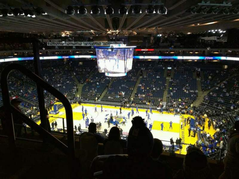 Seating view for Oracle Arena Section 231 Row 6 Seat 9