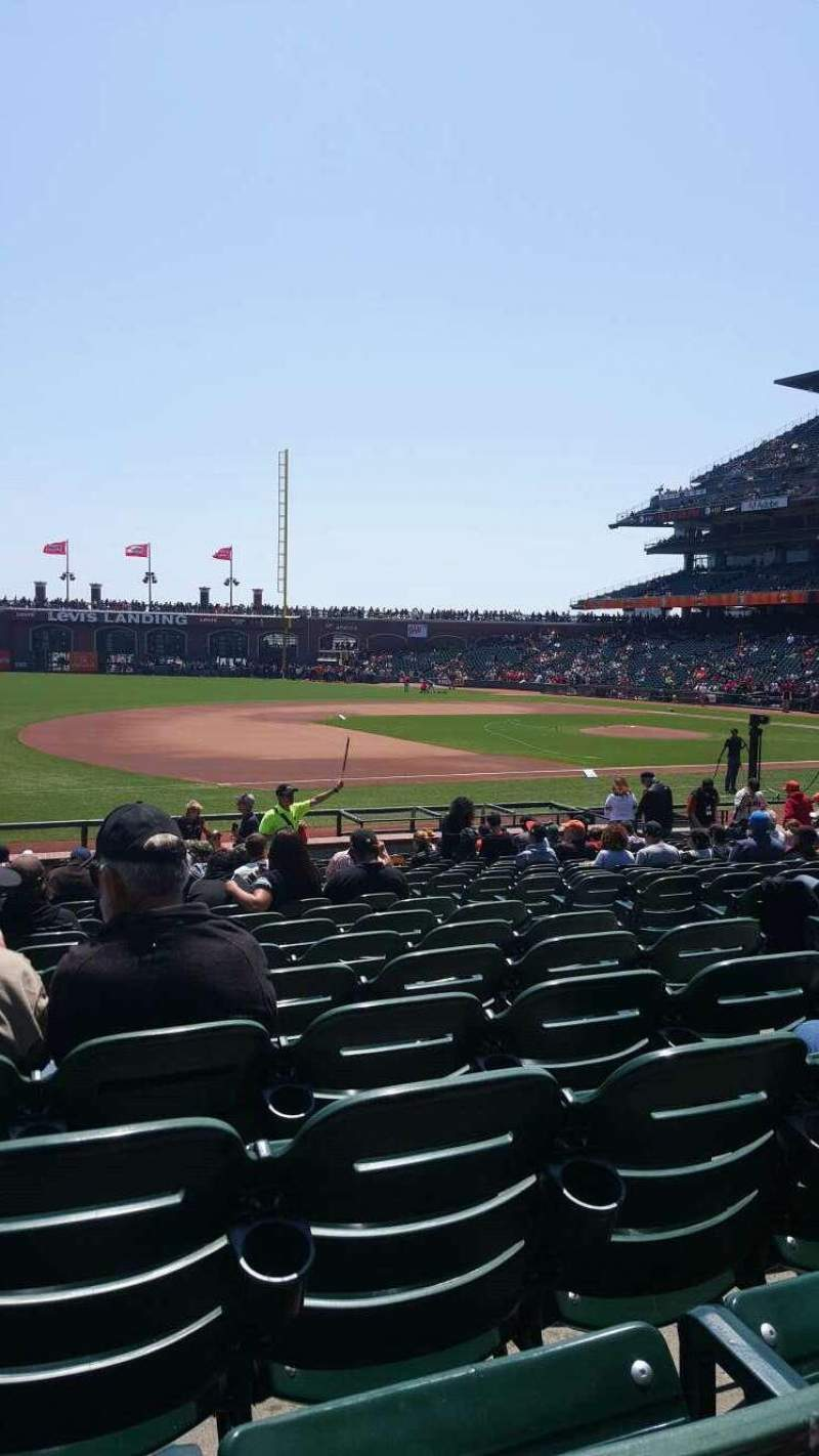 Seating view for Oracle Park Section 126 Row 19 Seat 6